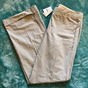 NWT J. Crew Favorite Fit Seersucker Cuffed Trouser